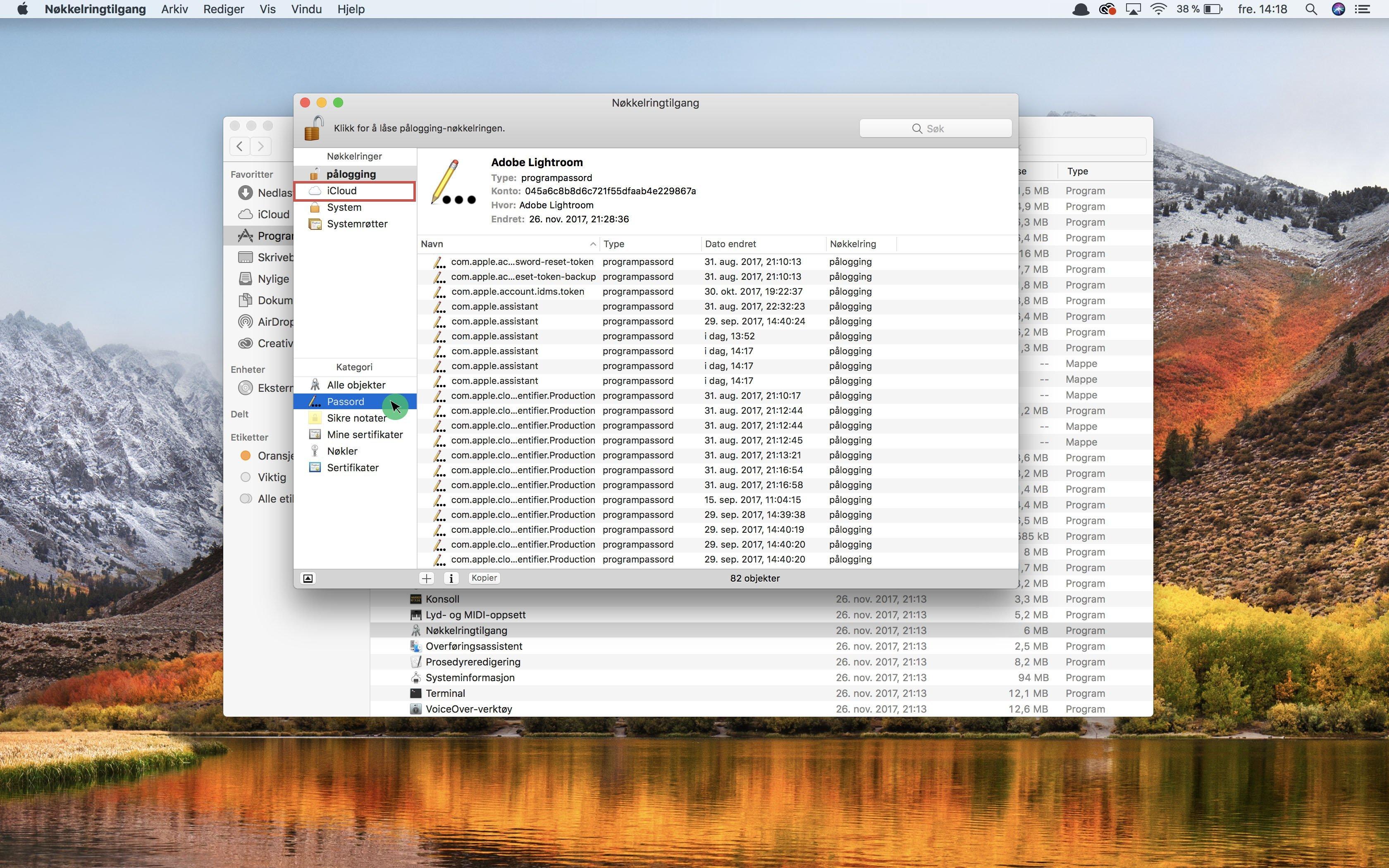 glemt passord på Mac