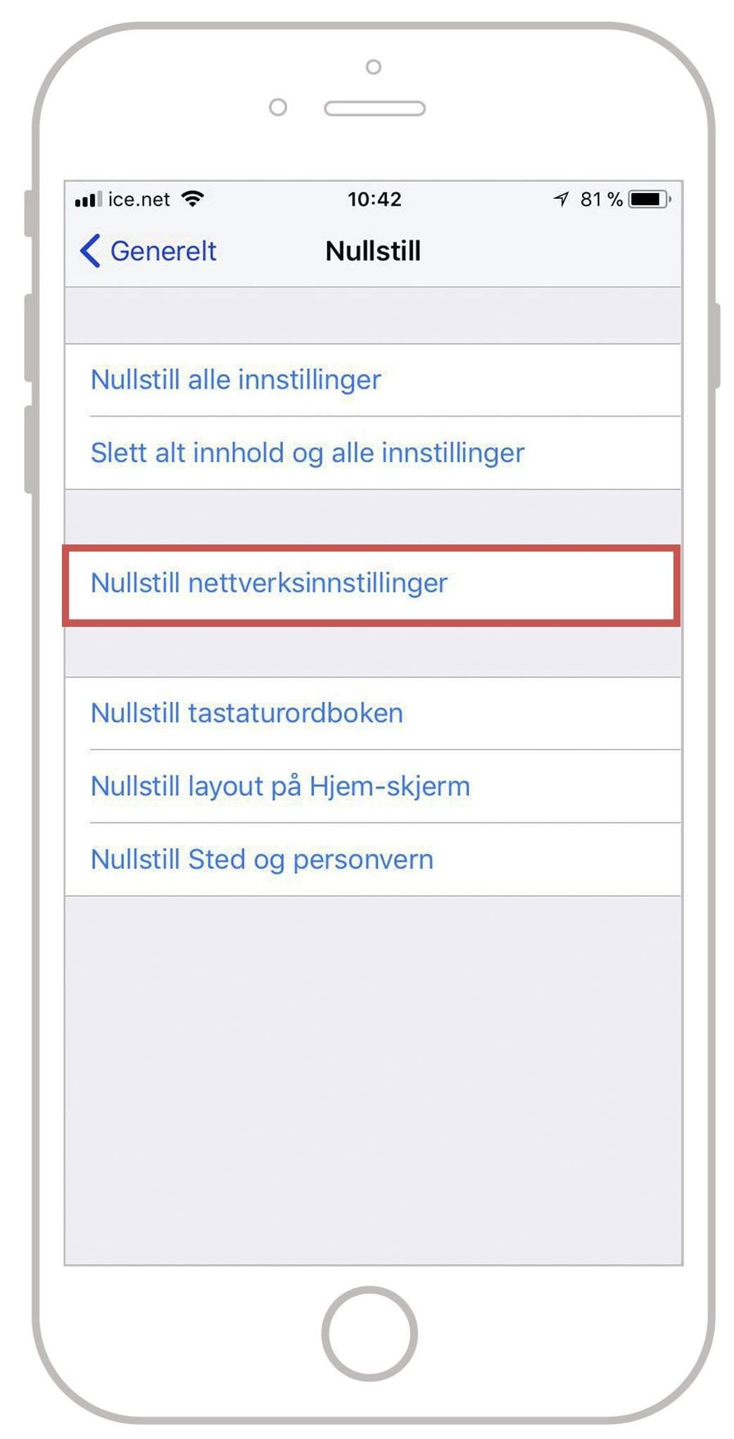 WiFi-problemer på iPhone