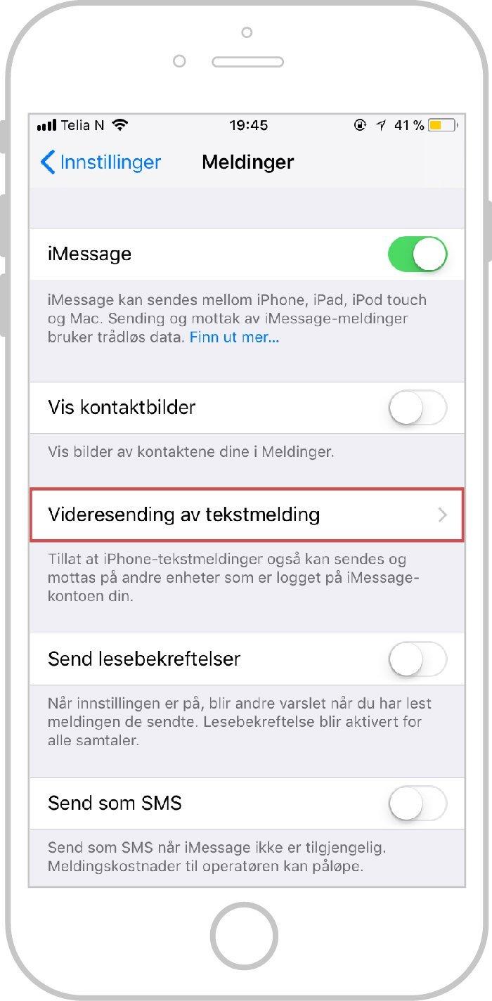 meldinger på mac ipad og iphone Videresending av tekstmelding